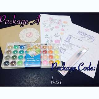 Package A - Watercolor Calligraphy Set
