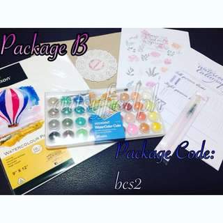 Package B - Watercolor Calligraphy Set