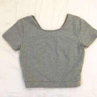 Matea Designs Grey Crop Top
