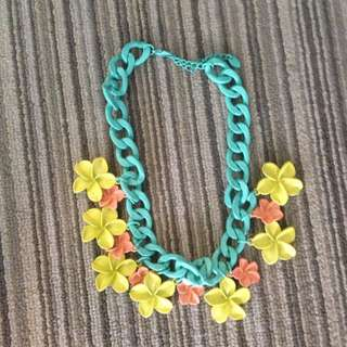 Zara Colorful Flower Necklace