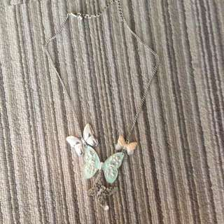 H&m Pastel Butterfly Necklace