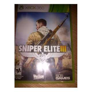 bd game Xbox360 Sniper Elite III