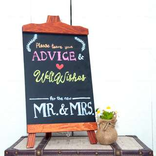 Wooden Chalkboard Stand (Brown) **RENTAL** Wedding / Events Props & Deco