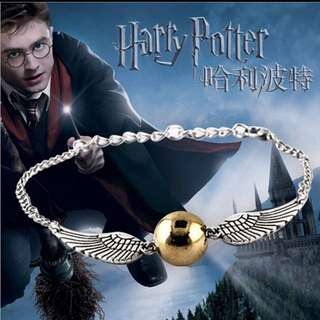 Harry Potter Deathly Hallows Angel wings Bracelet