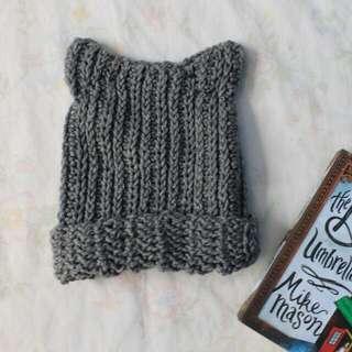 Kitty Ears Crochet Beanie