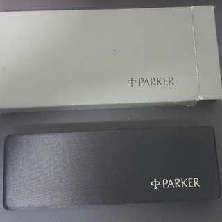 🚚 二手 派克parker原裝筆盒 鋼筆攜帶盒 絨布筆盒