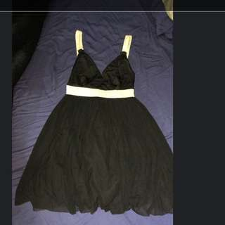 Bardot Black And White Semi Dress 8
