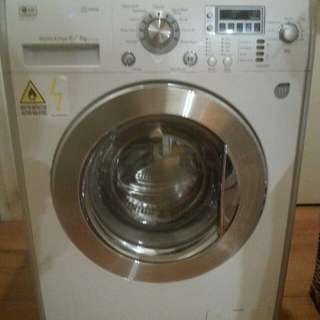 LG Washer And Dryer Leaking From Underneath.  Good For Fixing or Parts.