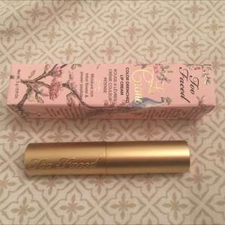 Too Faced Lip Cream in 'Pink Chocolate'