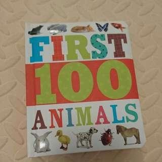 全新英文書 - First 100 Animals