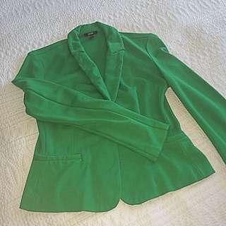 Emerald Green Sweatshirt Blazer
