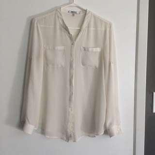Sheer White DKNYC blouse