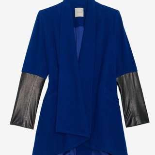 Mason Wool Jacket With Leather Sleeve