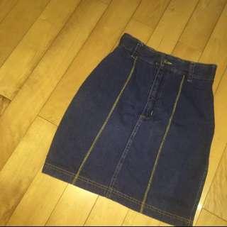 牛仔窄裙 Vintage