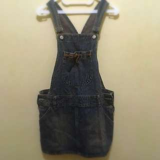 Overall Skirt Jeans