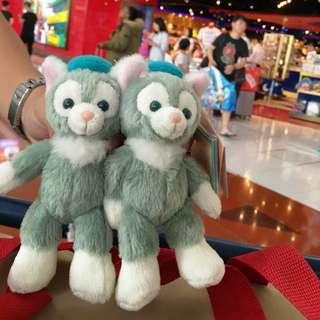 現貨 香港迪士尼 全新正品 Disney  貓畫家 gelatoni 傑拉托尼 小東尼 站姿 娃娃 吊飾 鑰匙圈 達菲