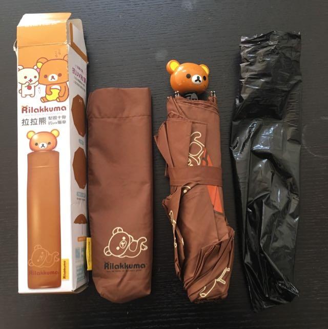 7-11拉拉熊-一起曬太陽 抗UV陽傘