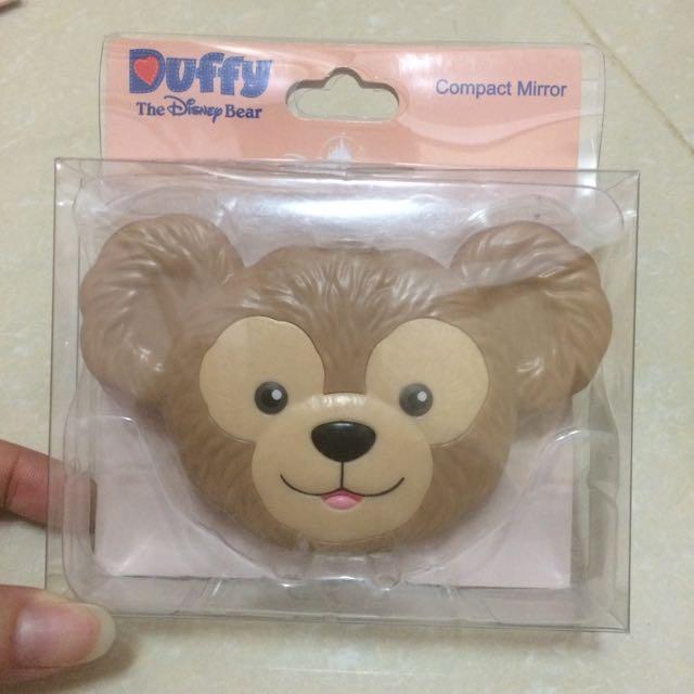 《絕版特價》香港迪士尼 達菲隨身化妝鏡