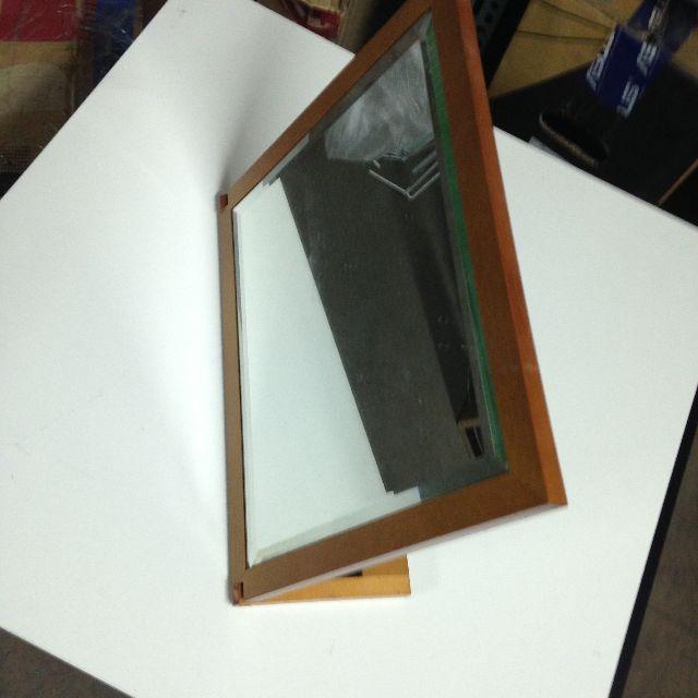【土城-自取】二手 木製 質感 化妝鏡 可蝦皮 可郵寄 大約 30X38CM