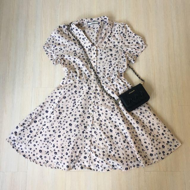 日本帶回 OLIVEdesOLIVE 碎花洋裝
