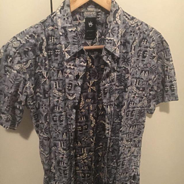 Afends Aztec Print Shirt S