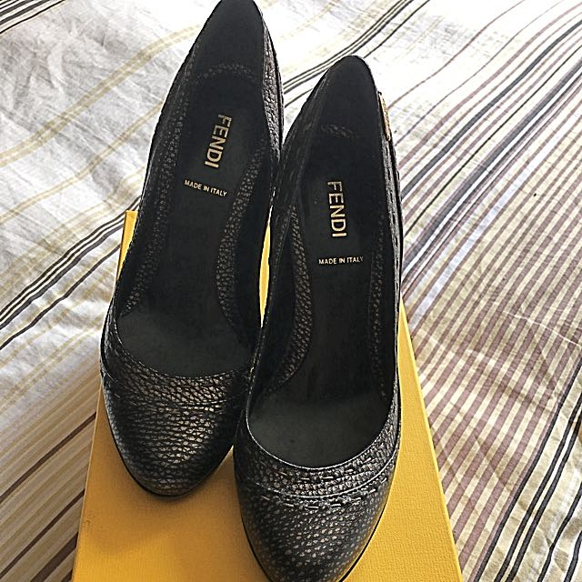 Authentic Fendi Block Heels