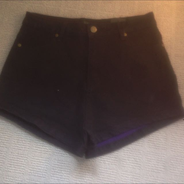 Black High Waisted Shorts Size 10