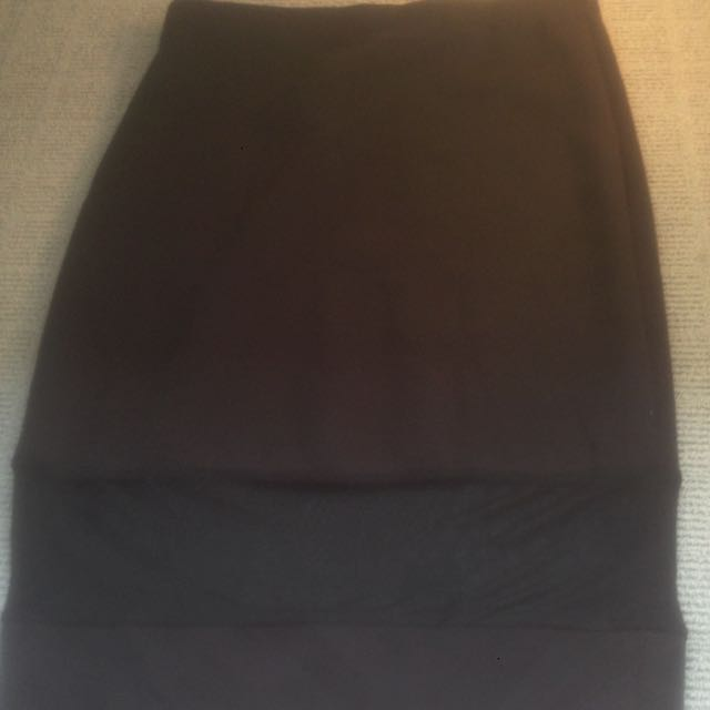 Black Midi Skirt Size 12