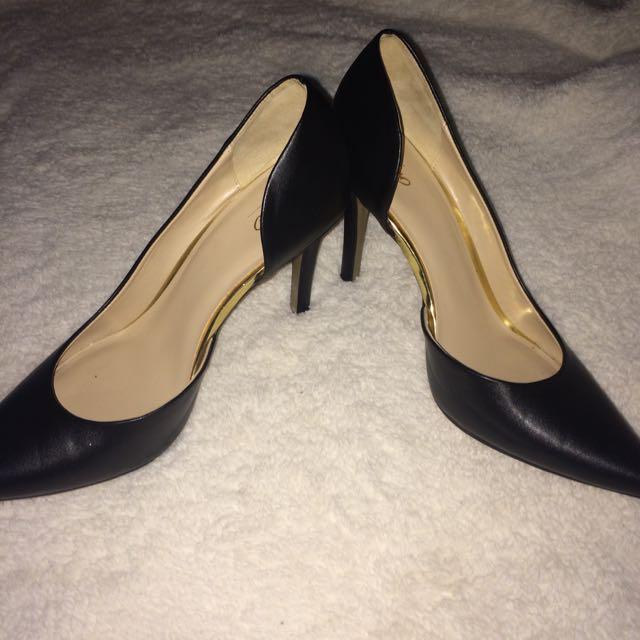 Black Pointed Toe Heels