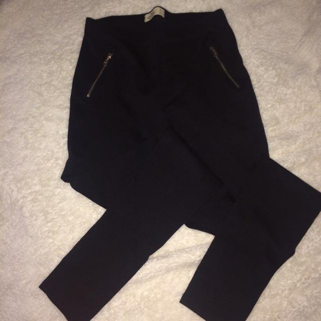 Black Zipper Tights