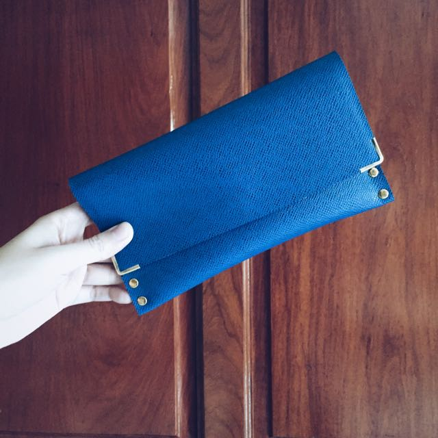 Blue Wallet With Gold Studs