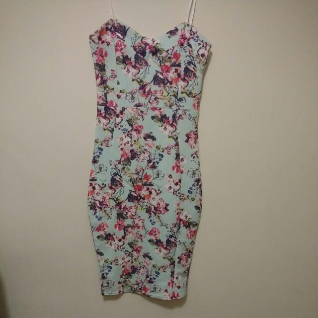 Boohoo Floral Midi Dress Size 8
