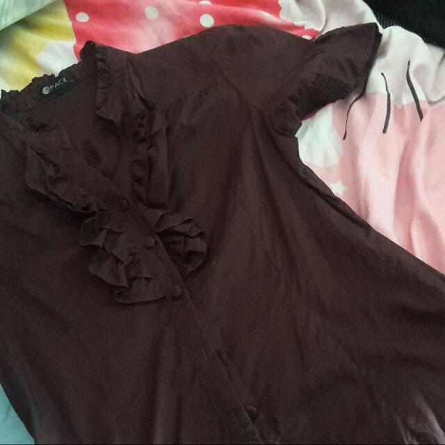 Brown Blouse From Space