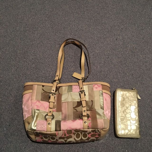 Coach Handbag And Coach Wallet