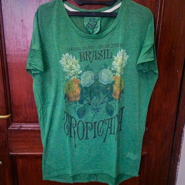 Coconut Island Green Shirt