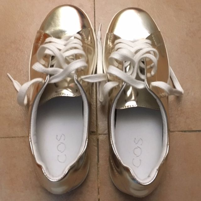 COS Gold Sneakers