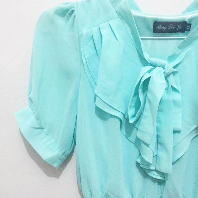 Cute Dress Mint Green