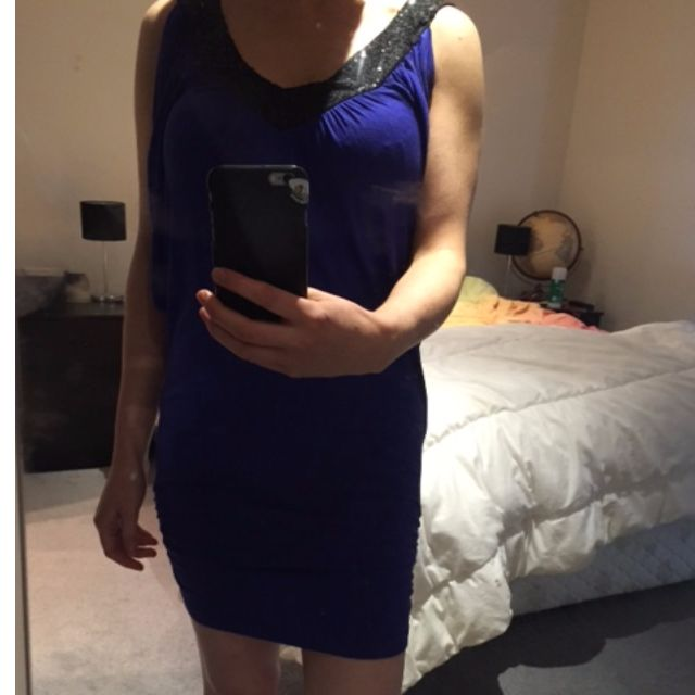 Electric Blue Bloch Dress