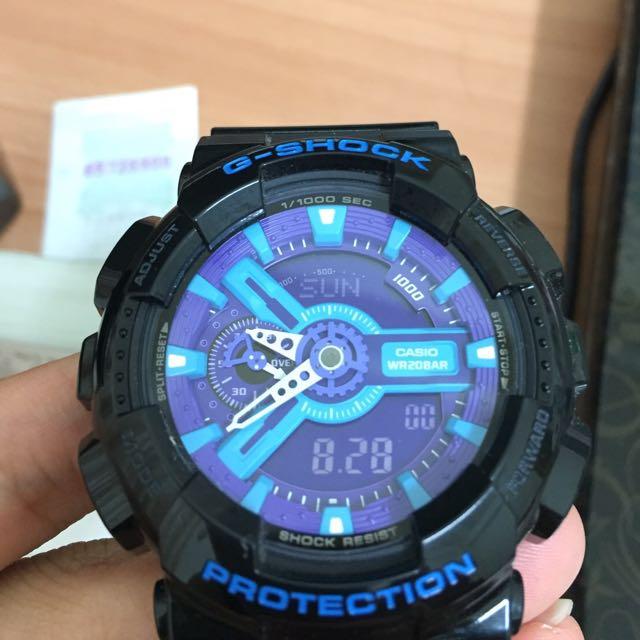 G Shock 黑藍紫電子錶