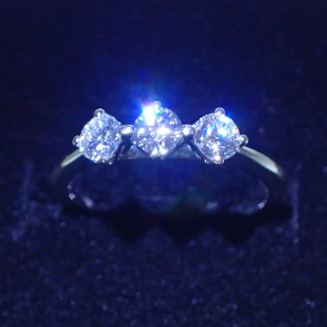 Goldheart Celestial 0.53 tcw Diamond Ring In 18k White Gold - With Video