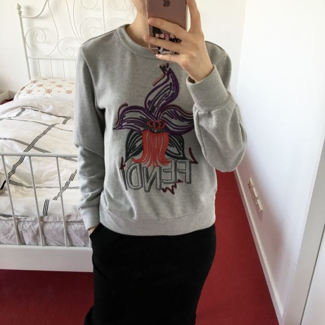 Grey Graphic Jumper