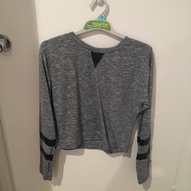 Grey Semi Cropped Jumper