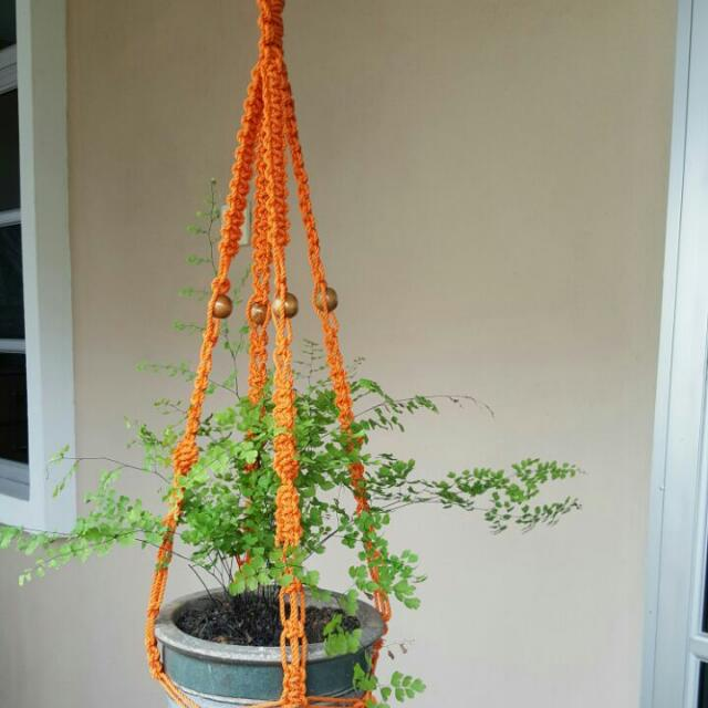 🌱🌱🌱Handmade Durable Outdoor Macrame Pot Hanger- Forever