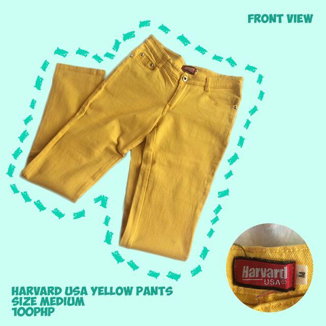 Harvard USA Yellow Pants