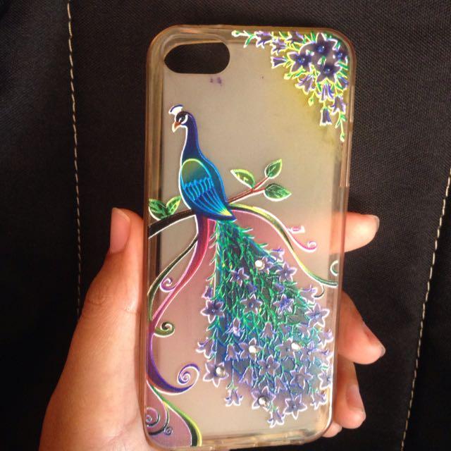 Jelly Case Tebal Dan Kuat. For Iphone 5\5S Motif Peacock