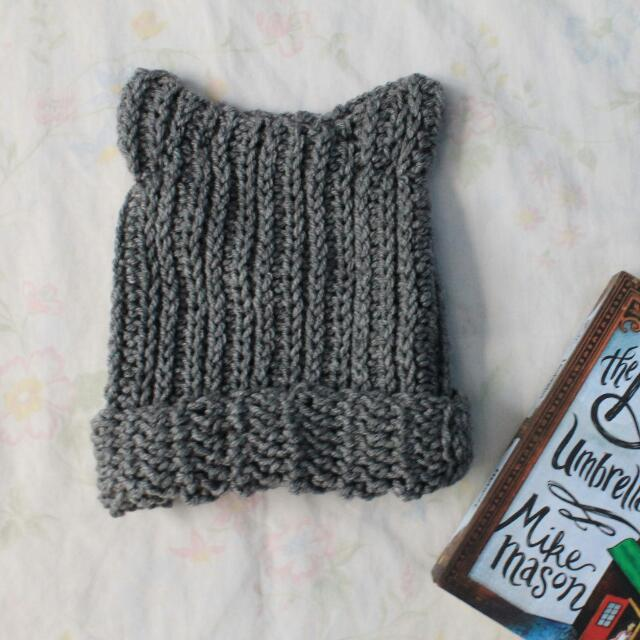 Kitty Ears Crochet Beanie
