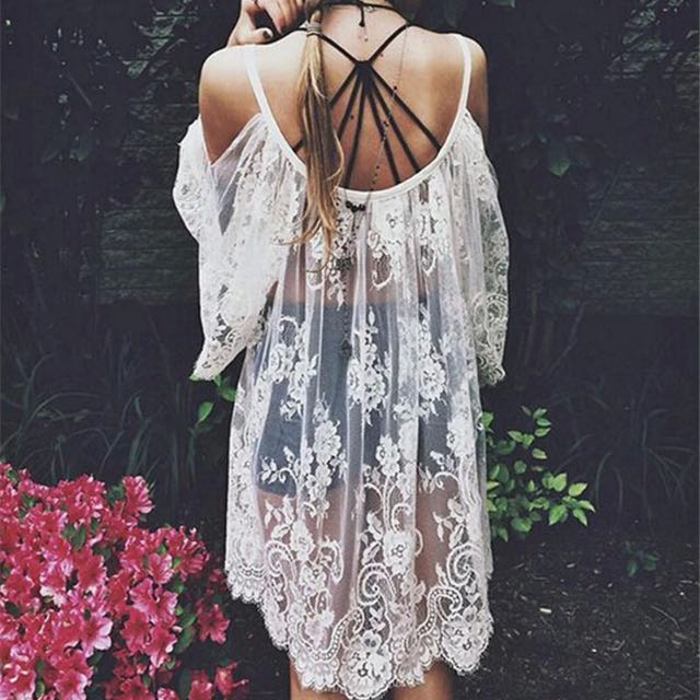Lace Throw Over Shirt
