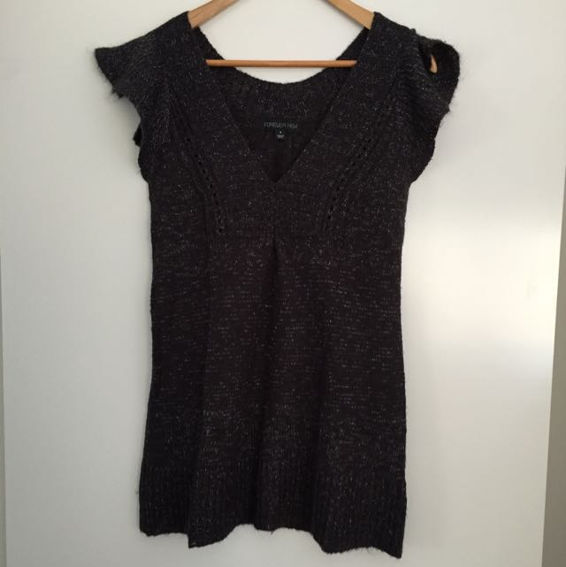 Ladies Forever New Mixed Blend Knitted Tunic Size 8