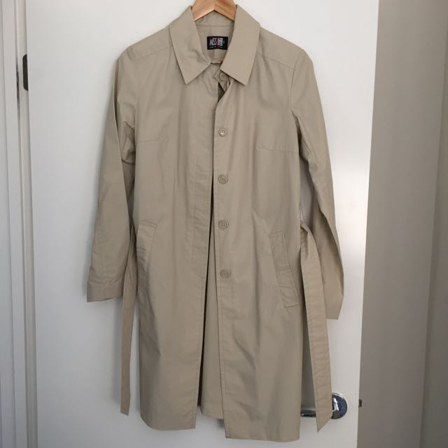 Ladies Miss Shop Vintage Button Down Trench Size 10