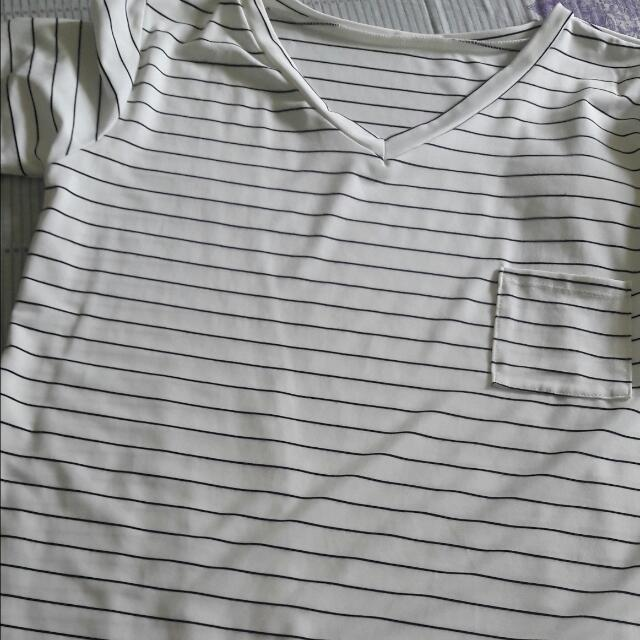 Long Back Stripe Shirt